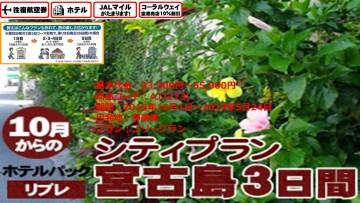リブレ 宮古島3日間2018/10/01~2019/05/24